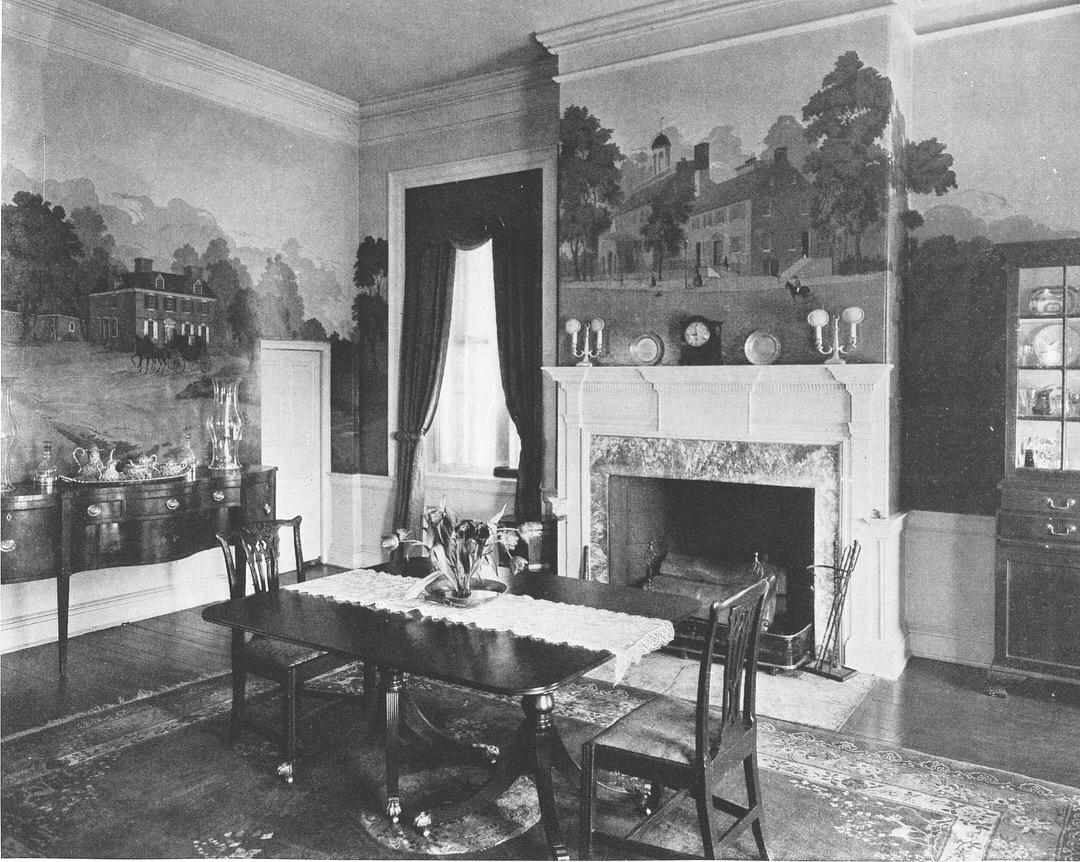Dining Room Photo black and white